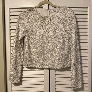 Lucy Paris cropped white lace top!